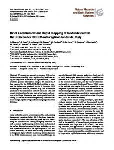 Brief Communication: Rapid mapping of landslide events: the 3 ...