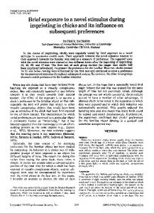 Brief exposure to a novel stimulus during imprinting in ... - Springer Link