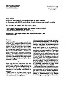 Brief Report Effects of single amino acid substitutions ... - Springer Link