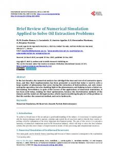 Brief Review of Numerical Simulation Applied to Solve Oil Extraction ...