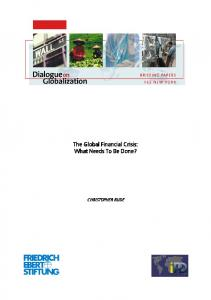 Briefing paper - Dialogue on Globalization