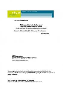 Briefrapport 360050002 Risks associated with the lay ...