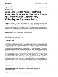 Bringing Impossible Places to the Public: Three Ideas ... - flore@unifi.it