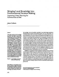 Bringing Local Knowledge into Environmental ... - SAGE Journals