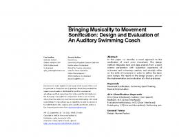 Bringing Musicality to Movement Sonification - ACM Digital Library