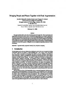 Bringing People and Places Together with Dual ... - Semantic Scholar