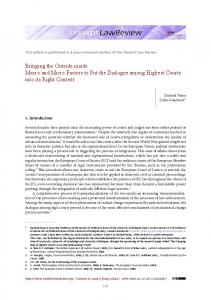 Bringing the Outside inside Macro and Micro ... - Utrecht Law Review
