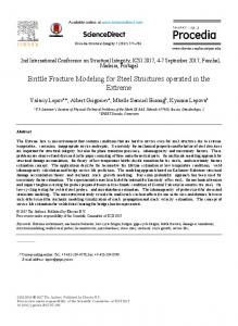 Brittle Fracture Modeling for Steel Structures ... - ScienceDirect.com