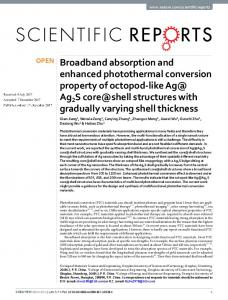 Broadband absorption and enhanced photothermal
