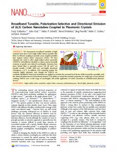 Broadband Tunable, Polarization-Selective and ... - ACS Publications