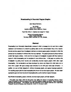 Broadcasting in Bounded Degree Graphs Abstract - Semantic Scholar