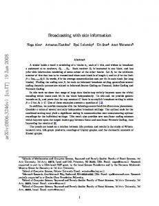 Broadcasting with side information