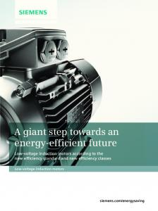 Brochure: A giant step towards an energy-efficient future - Siemens