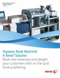 Specifications - Espresso Book Machine®, A Xerox Solution (PDF, 2