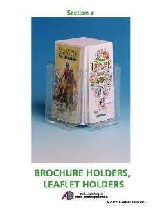 brochure holders, leaflet holders - Acrylic Design & Fabrication ...
