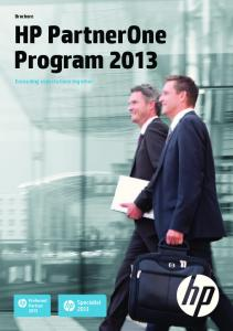 Brochure HP PartnerOne Program 2013