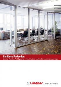 Brochure Partition Systems - Lindner Group