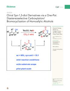 Bromocyclization of Homoallylic Alcohols