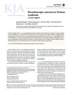 Bronchoscopic concerns in Proteus syndrome - Semantic Scholar