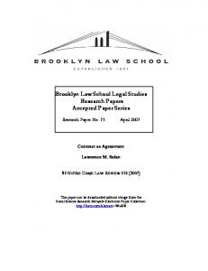 Brooklyn Law School Legal Studies Research Papers ... - SSRN papers