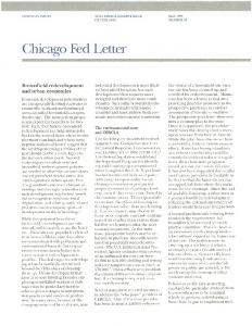 Brownfield redevelopment and urban economies - Federal Reserve