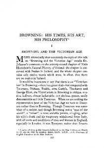browning: his times, his art, his philosophy - Rice Scholarship Home