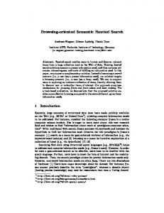 Browsing-oriented Semantic Faceted Search - Semantic Scholar