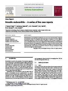 Brucella endocarditis - A series of five case reports - Core