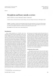 Bryophytes and heavy metals: a review