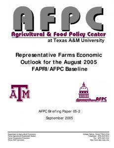 bs-2005-02 Aug Baseline.pdf - The Agricultural & Food Policy Center