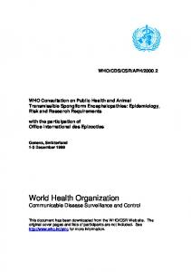 BSE - World Health Organization