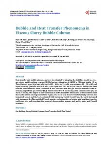 Bubble and Heat Transfer Phenomena in Viscous Slurry Bubble Column