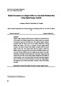 Bubble Formation on a Single Orifice in a Gas Solid Fluidized Bed ...