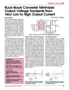 Buck-Boost Converter Minimizes Output Voltage ... - Analog Devices