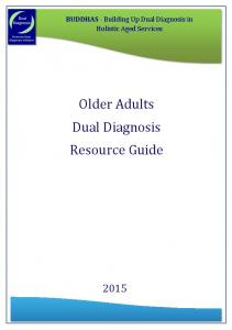 BUDDHAS Older Adults Dual Diagnosis Resource Guide