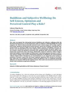 Buddhism and Subjective Wellbeing - Scientific Research Publishing