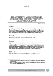 budget deficits and reductions in inequality for economic ... - Dialnet