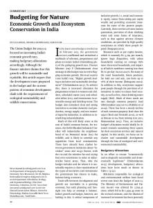 Budgeting for Nature - India Water Portal