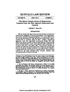 buffalo law review - SSRN