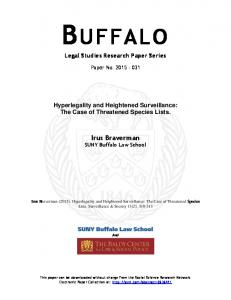 buffalo - SSRN papers
