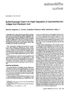 Buffer-Exchange Column for Rapid Separation of ... - Clinical Chemistry