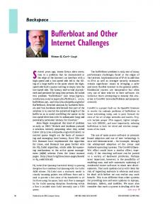 Bufferbloat and Other Internet Challenges - IEEE Xplore