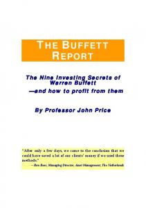 Buffett Secrets Revealed