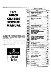 BUICK CHASSIS SERVICE MANUAL