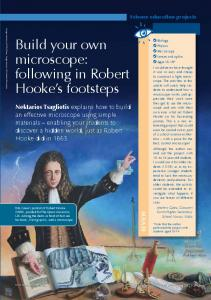Build your own microscope: following in Robert
