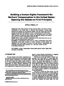 Building a human rights framework for workers' compensation in the
