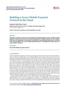 Building a Secure Mobile Payment Protocol in the Cloud - Scientific ...