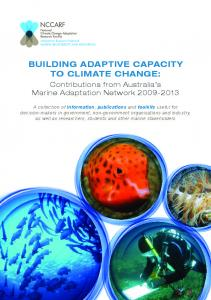 Building AdAptive CApACity to ClimAte ChAnge