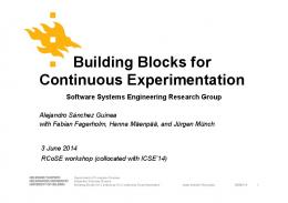 Building Blocks for Continuous Experimentation