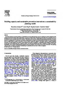 Building capacity and sustainable prevention ... - Semantic Scholar